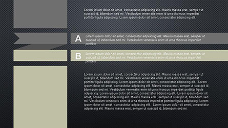 Agenda Options Ribbon Style, Slide 13, 04265, Stage Diagrams — PoweredTemplate.com