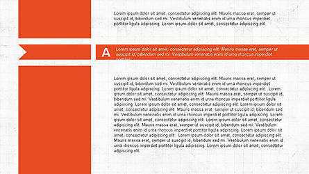 Agenda Options Ribbon Style, Slide 2, 04265, Stage Diagrams — PoweredTemplate.com