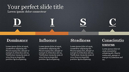 DISC Personality Presentation Template, Slide 16, 04268, Business Models — PoweredTemplate.com