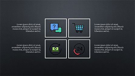 Square and Rhombus Presentation Template, Slide 10, 04269, Presentation Templates — PoweredTemplate.com