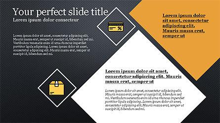 Square and Rhombus Presentation Template, Slide 14, 04269, Presentation Templates — PoweredTemplate.com