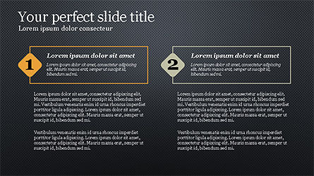Presentation with Numbered Text Boxes, Slide 11, 04270, Presentation Templates — PoweredTemplate.com