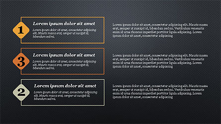 Presentation with Numbered Text Boxes, Slide 13, 04270, Presentation Templates — PoweredTemplate.com