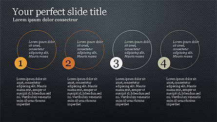 Presentation with Numbered Text Boxes, Slide 15, 04270, Presentation Templates — PoweredTemplate.com