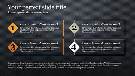 Presentation with Numbered Text Boxes, Slide 9, 04270, Presentation Templates — PoweredTemplate.com