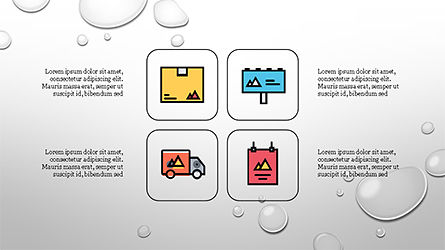 Process and Options with Flat Colored Icons, 04272, Icons — PoweredTemplate.com
