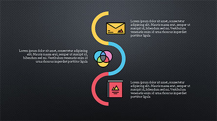 Process and Options with Flat Colored Icons, Slide 10, 04272, Icons — PoweredTemplate.com