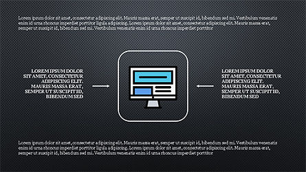 Process and Options with Flat Colored Icons, Slide 13, 04272, Icons — PoweredTemplate.com