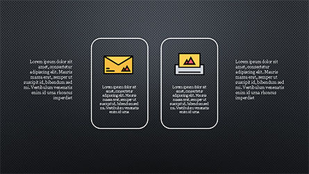 Process and Options with Flat Colored Icons, Slide 15, 04272, Icons — PoweredTemplate.com