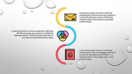 Process and Options with Flat Colored Icons, Slide 2, 04272, Icons — PoweredTemplate.com