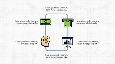 Organizational Chart with Financial Icons, Slide 8, 04274, Flow Charts — PoweredTemplate.com