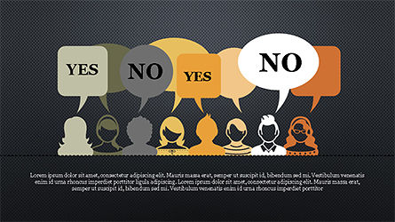 Yes No Presentation Concept, Slide 9, 04276, Icons — PoweredTemplate.com