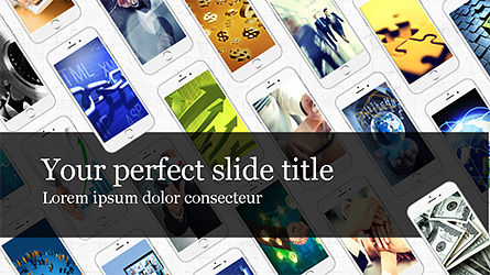 Smartphones Presentation Template, 04277, Presentation Templates — PoweredTemplate.com