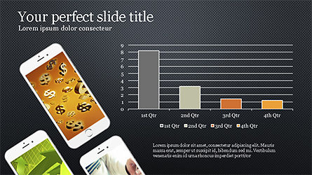 Smartphones Presentation Template, Slide 11, 04277, Presentation Templates — PoweredTemplate.com