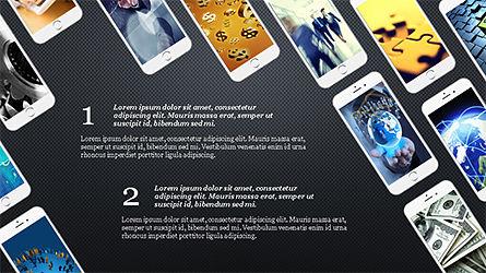 Smartphones Presentation Template, Slide 12, 04277, Presentation Templates — PoweredTemplate.com