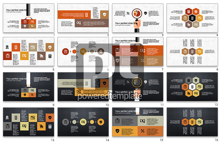 Flat Shapes Business Presentation Template