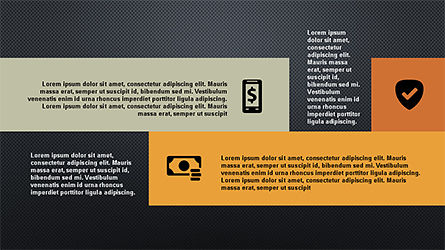 Flat Shapes Business Presentation Template, Slide 10, 04278, Presentation Templates — PoweredTemplate.com
