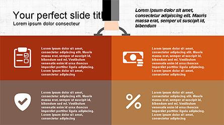 Flat Shapes Business Presentation Template, Slide 7, 04278, Presentation Templates — PoweredTemplate.com
