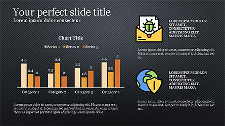 Data Security Presentation Template, Slide 14, 04280, Icons — PoweredTemplate.com