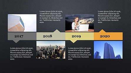 Timeline Agenda Presentation Template, Slide 12, 04281, Stage Diagrams — PoweredTemplate.com