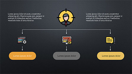 Organizational Chart with Flat Icons, Slide 11, 04282, Icons — PoweredTemplate.com