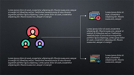 Organizational Chart with Flat Icons, Slide 15, 04282, Icons — PoweredTemplate.com