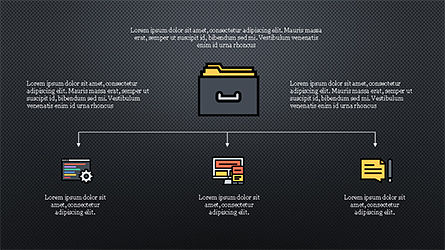 Organizational Chart with Flat Icons, Slide 16, 04282, Icons — PoweredTemplate.com