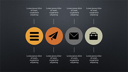 Flat Round Icons Presentation Template, Slide 10, 04286, Icons — PoweredTemplate.com
