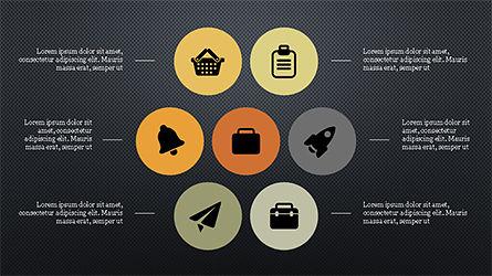 Flat Round Icons Presentation Template, Slide 11, 04286, Icons — PoweredTemplate.com