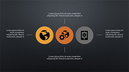 Flat Round Icons Presentation Template, Slide 12, 04286, Icons — PoweredTemplate.com