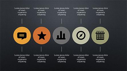 Flat Round Icons Presentation Template, Slide 14, 04286, Icons — PoweredTemplate.com