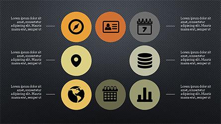 Flat Round Icons Presentation Template, Slide 15, 04286, Icons — PoweredTemplate.com