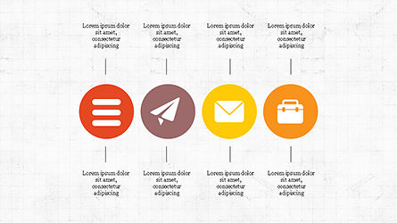 Flat Round Icons Presentation Template, Slide 2, 04286, Icons — PoweredTemplate.com