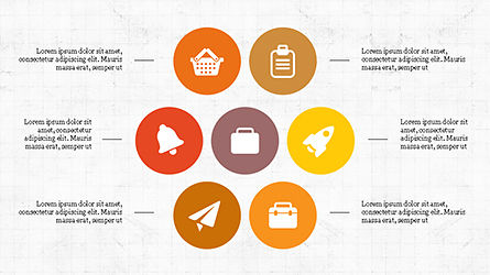 Flat Round Icons Presentation Template, Slide 3, 04286, Icons — PoweredTemplate.com