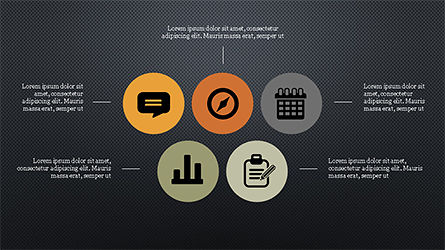 Flat Round Icons Presentation Template, Slide 9, 04286, Icons — PoweredTemplate.com