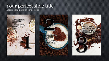 Coffee Presentation Template, Slide 13, 04287, Presentation Templates — PoweredTemplate.com