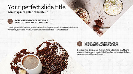 Coffee Presentation Template, Slide 3, 04287, Presentation Templates — PoweredTemplate.com