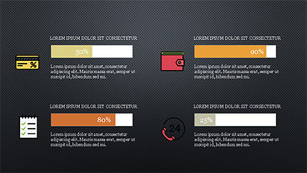 Colorful Marketing Presentation Template, Slide 14, 04291, Icons — PoweredTemplate.com
