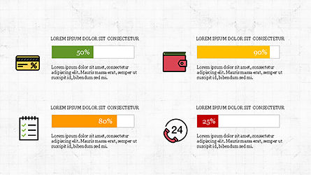 Colorful Marketing Presentation Template, Slide 6, 04291, Icons — PoweredTemplate.com