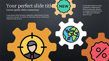 Colorful Marketing Presentation Template, Slide 9, 04291, Icons — PoweredTemplate.com