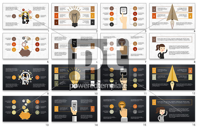 Colorful Illustrative Presentation Template