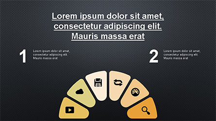 Circular Diagrams Set, Slide 10, 04293, Process Diagrams — PoweredTemplate.com