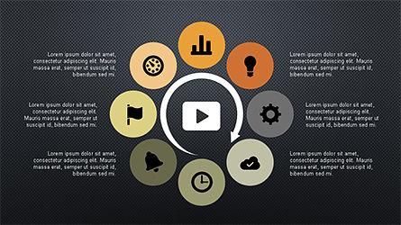 Circular Diagrams Set, Slide 12, 04293, Process Diagrams — PoweredTemplate.com