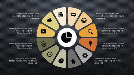 Circular Diagrams Set, Slide 16, 04293, Process Diagrams — PoweredTemplate.com