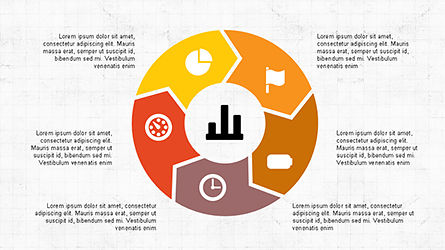 Circular Diagrams Set, Slide 3, 04293, Process Diagrams — PoweredTemplate.com