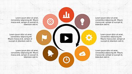 Circular Diagrams Set, Slide 4, 04293, Process Diagrams — PoweredTemplate.com