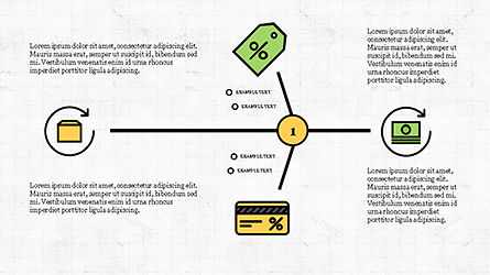 Fishbone Diagram with E-Commerce Icons, 04295, Business Models — PoweredTemplate.com