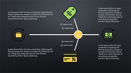 Fishbone Diagram with E-Commerce Icons, Slide 9, 04295, Business Models — PoweredTemplate.com
