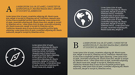 Grid Layout Social Media Presentation Template, Slide 15, 04296, Icons — PoweredTemplate.com