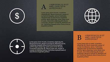 Grid Layout Social Media Presentation Template, Slide 16, 04296, Icons — PoweredTemplate.com